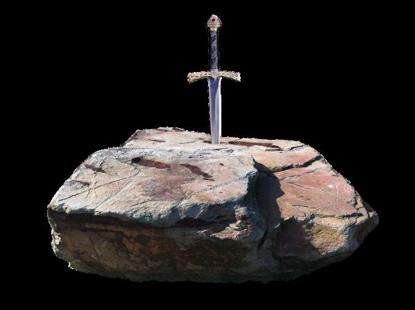 Sword Stone Weapon Excalibur  - jean52Photosstock / Pixabay